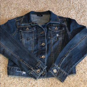 Denim jacket - slightly distressed